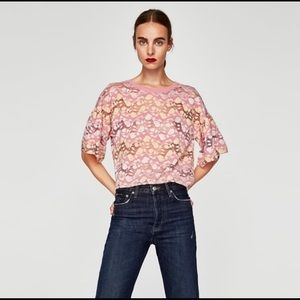 Zara Flowery Lace Top